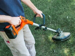 Edge with string trimmer