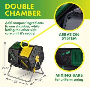 miracle gro dual chamber compost tumbler instructions