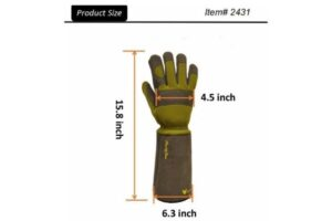 G & F Products 2431L Florist Pro Long-Sleeve Gloves