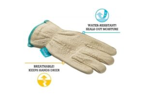 Wells Lamont Women's Water-Resistant Leather Work Gloves